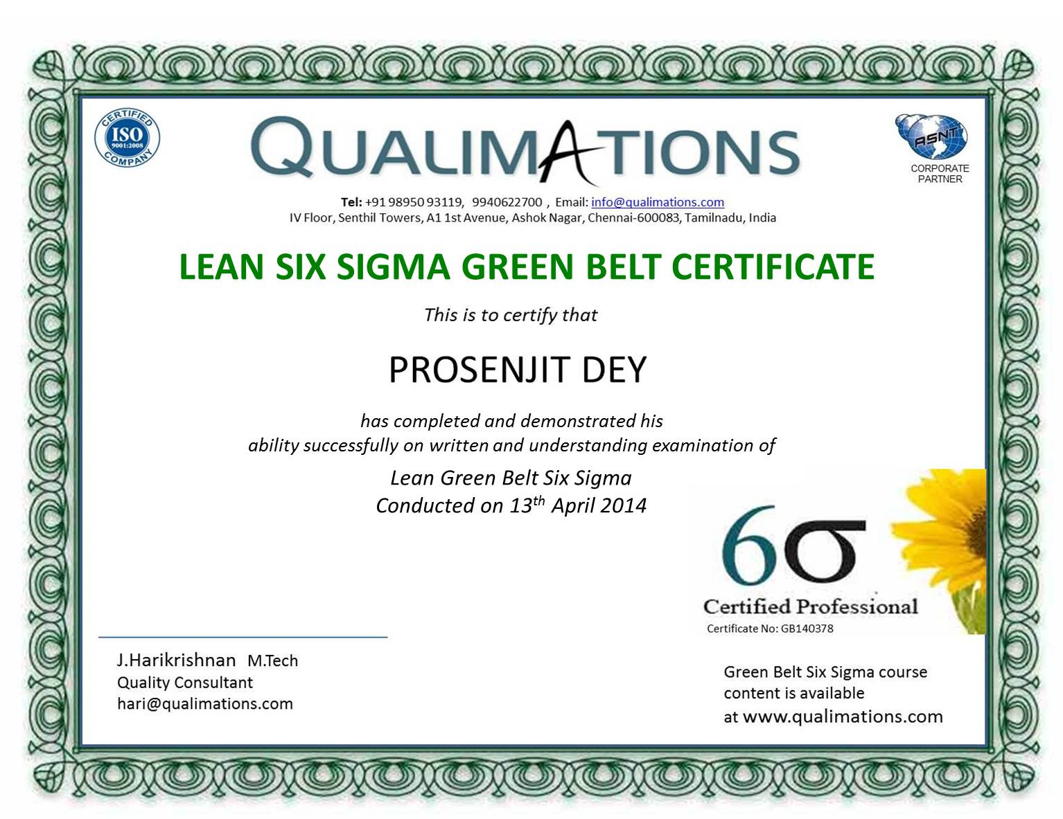 Six Sigma Courses In Chennai Six Sigma Training In Chennai