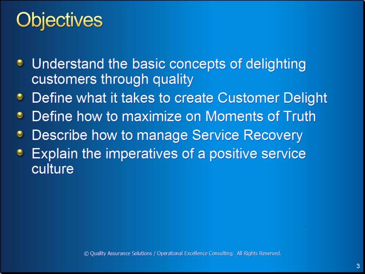 Customer Delight Training Presentation