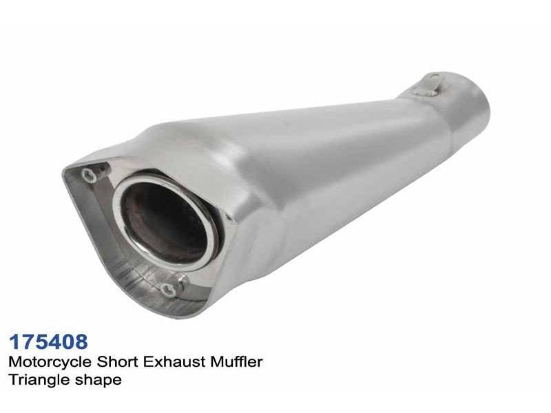 universal stainless steel motorcycle exhaust muffler triangle cobra style l260 id50