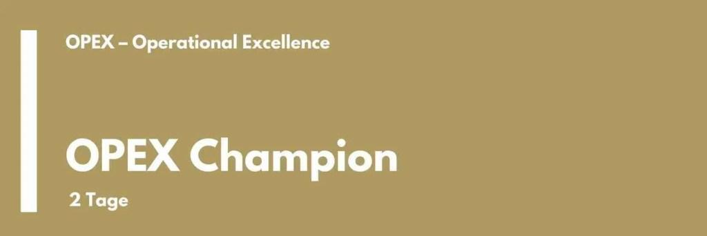 OPEX Champion