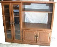 Oak Doors: Oak Entertainment Center With Glass Doors