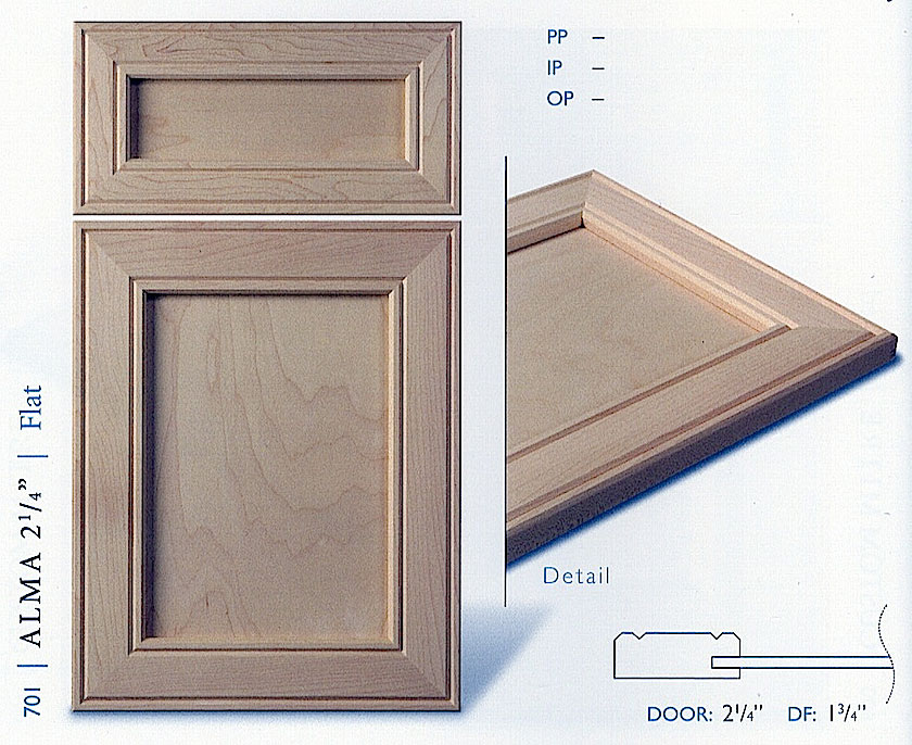 700Series Cabinet Door Profiles