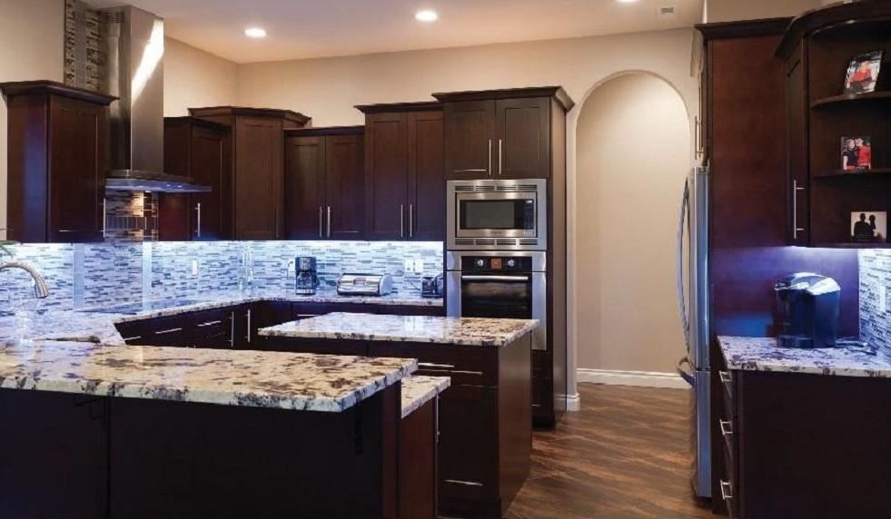 cherry cabinets kitchen window ideas treatments quality nj - black coffee maple