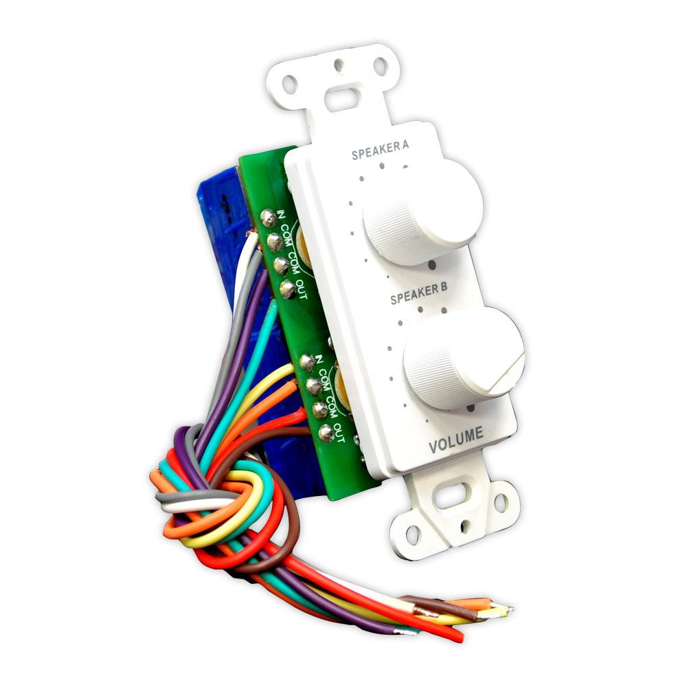 Pyle Inwall Speaker Selector Switch Wall Plate Speaker Control
