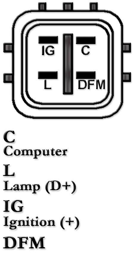 Alternator for TOYOTA HiLux D4D KUN16R 26R KZN156 157