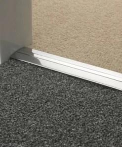 Carpet to Carpet Threshold brushed chrome