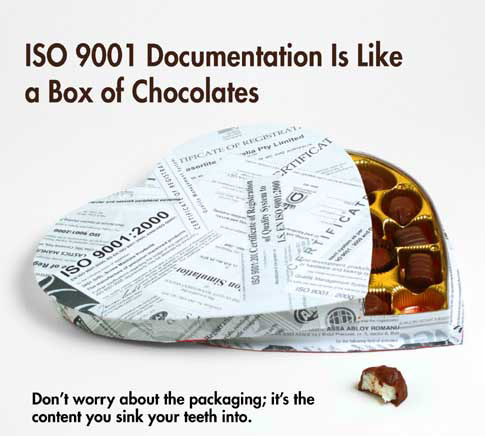 ISO 9001 Documentation Is Like a Box of Chocolates