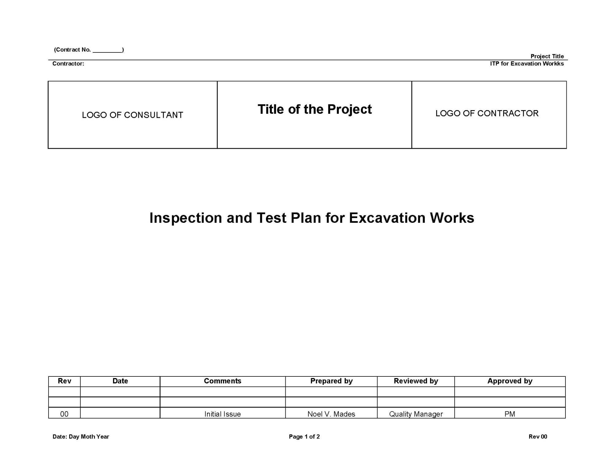 hight resolution of understanding about inspection and test plan itp quality assurance and quality control in construction