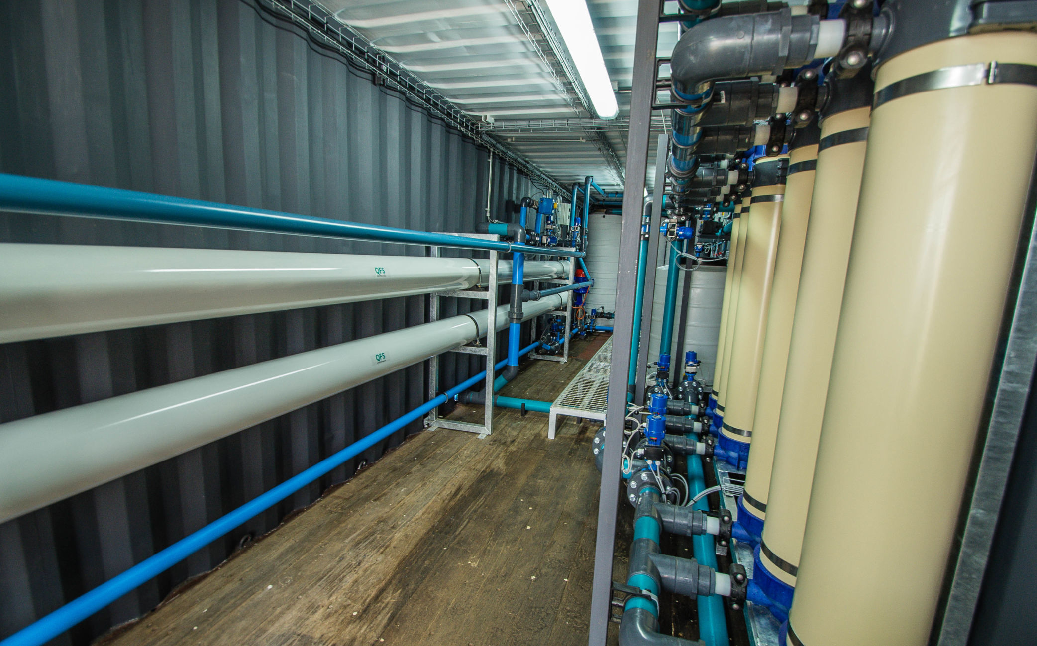 Containerized water filtration plant for Leeu Gamka