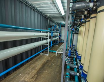 containerized water treatment unit