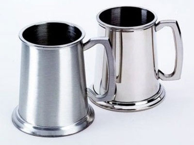 engraved pewter mugs by