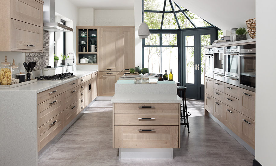 quality kitchen doors nottingham oak finish