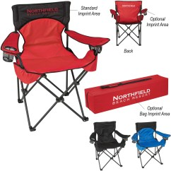 Folding Chair Nylon Crate And Barrel Beach Chairs Promotional Deluxe Padded With Carrying Bags Bag