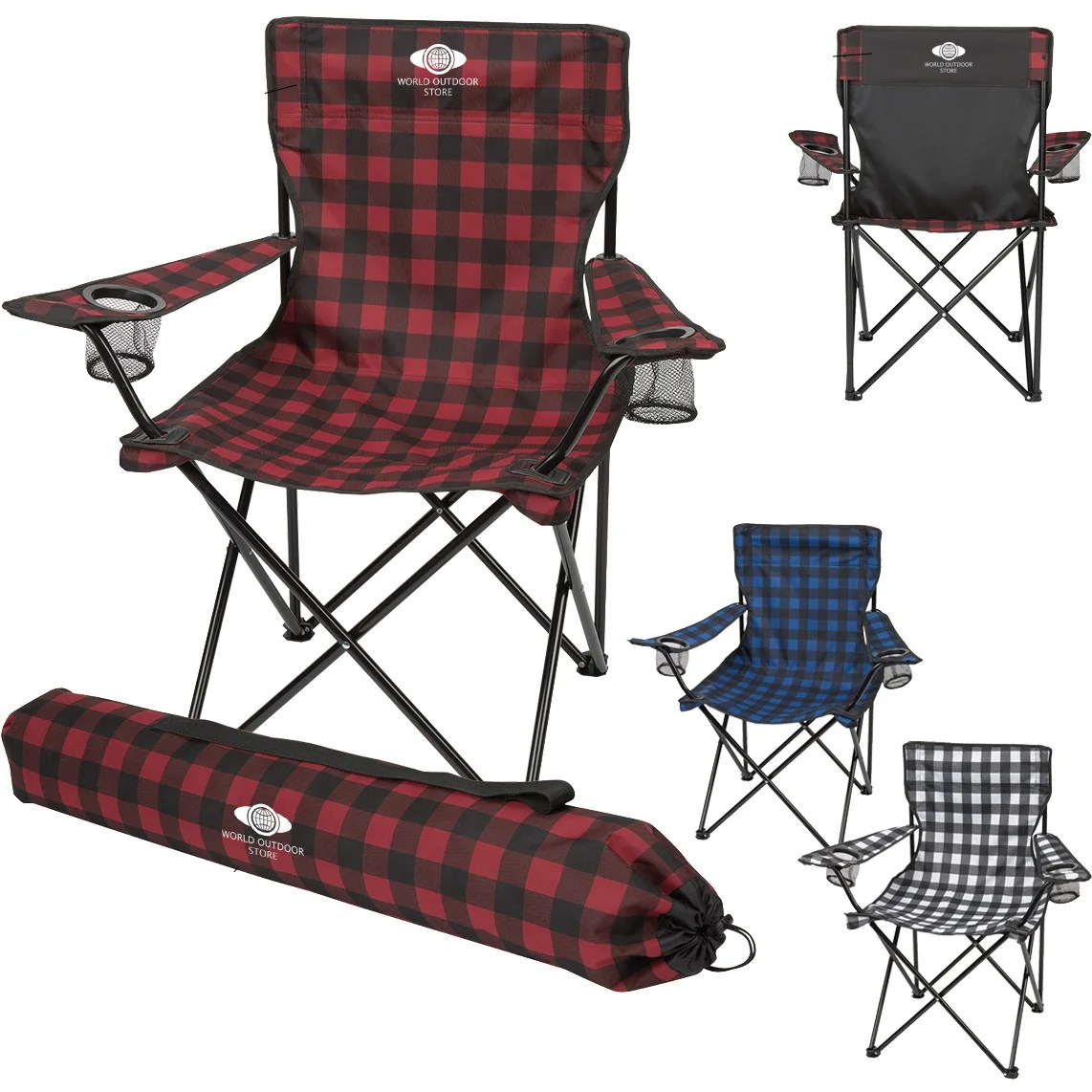 folding bag chair patio bed promotional northwoods with carrying bags custom personalized