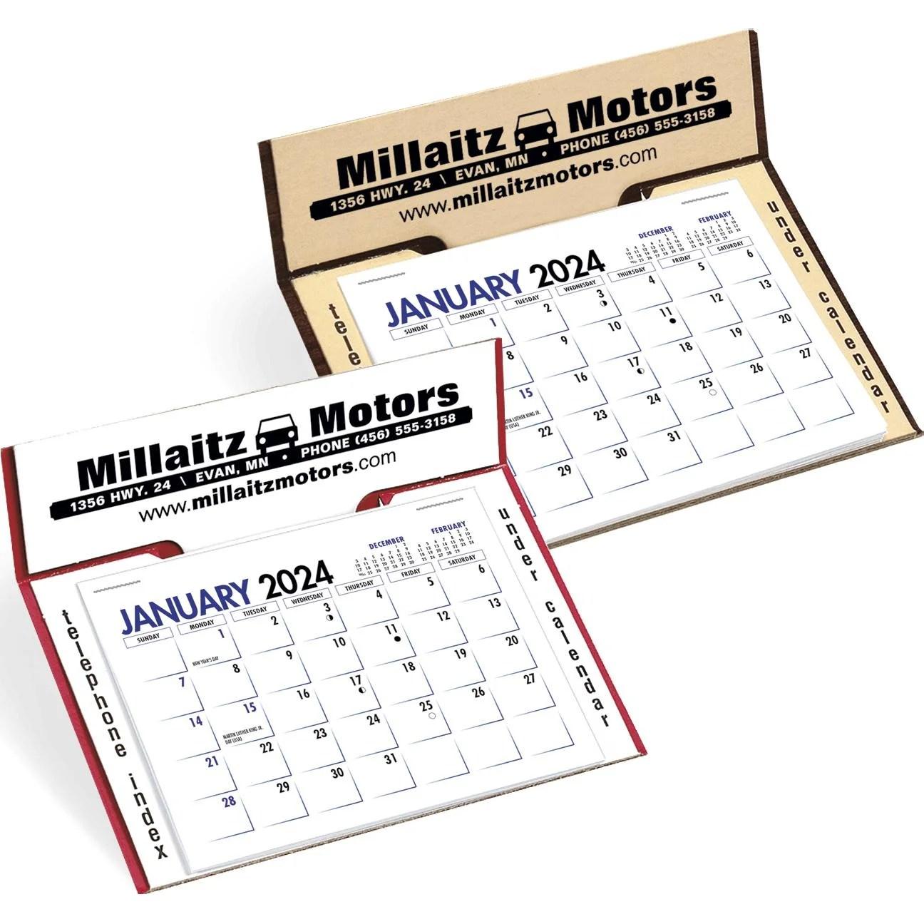 Promotional 2020 Memo Desk Calendars with Custom Logo for