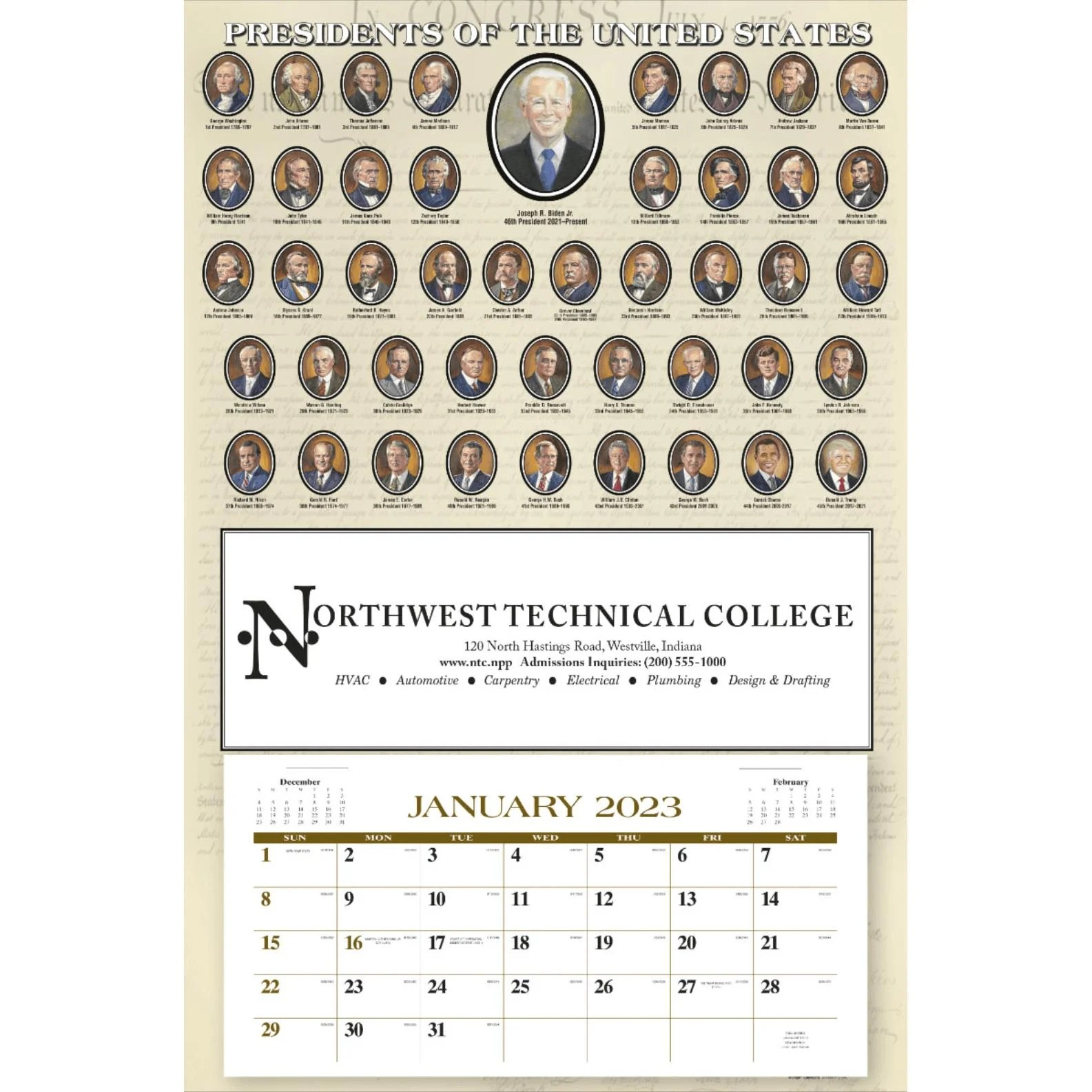 Click Here To Order Annual 12 Sheet Presidents