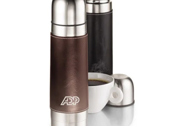 Leather Wrapped Travel Mugs
