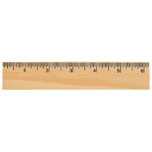 6 Inch Ruler Actual Size