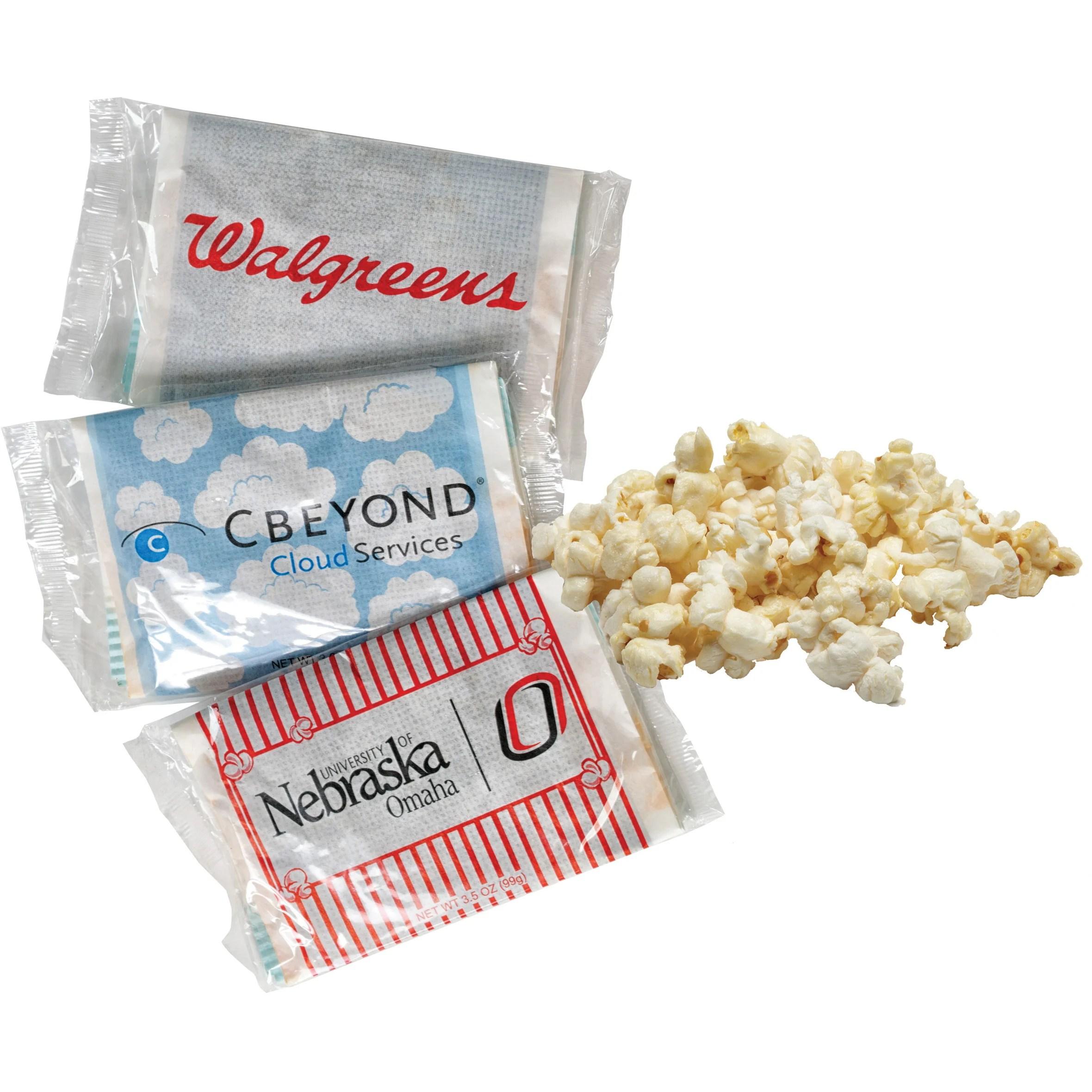 custom printed single microwave popcorn bag