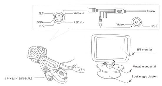 Boyo VTM3000 Universal 3 inch LCD Monitor