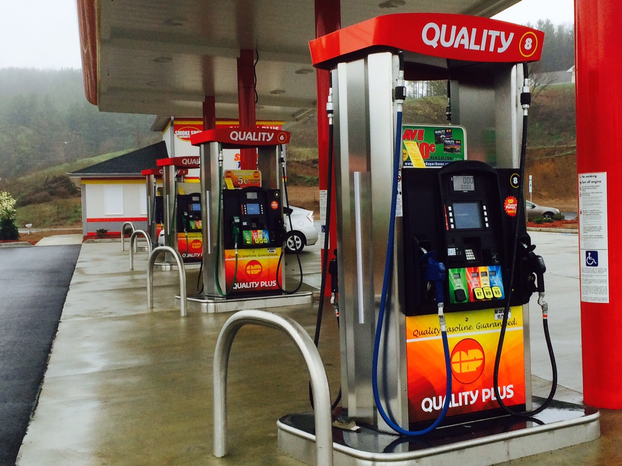 What gas stations high-quality gasoline 54