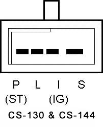 gm cs alternator wiring diagram ac for car 130 great installation of conversion harness adapter rh qualitypowerauto com cs130 resistor 4 wire