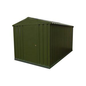 green metal shed 7x12