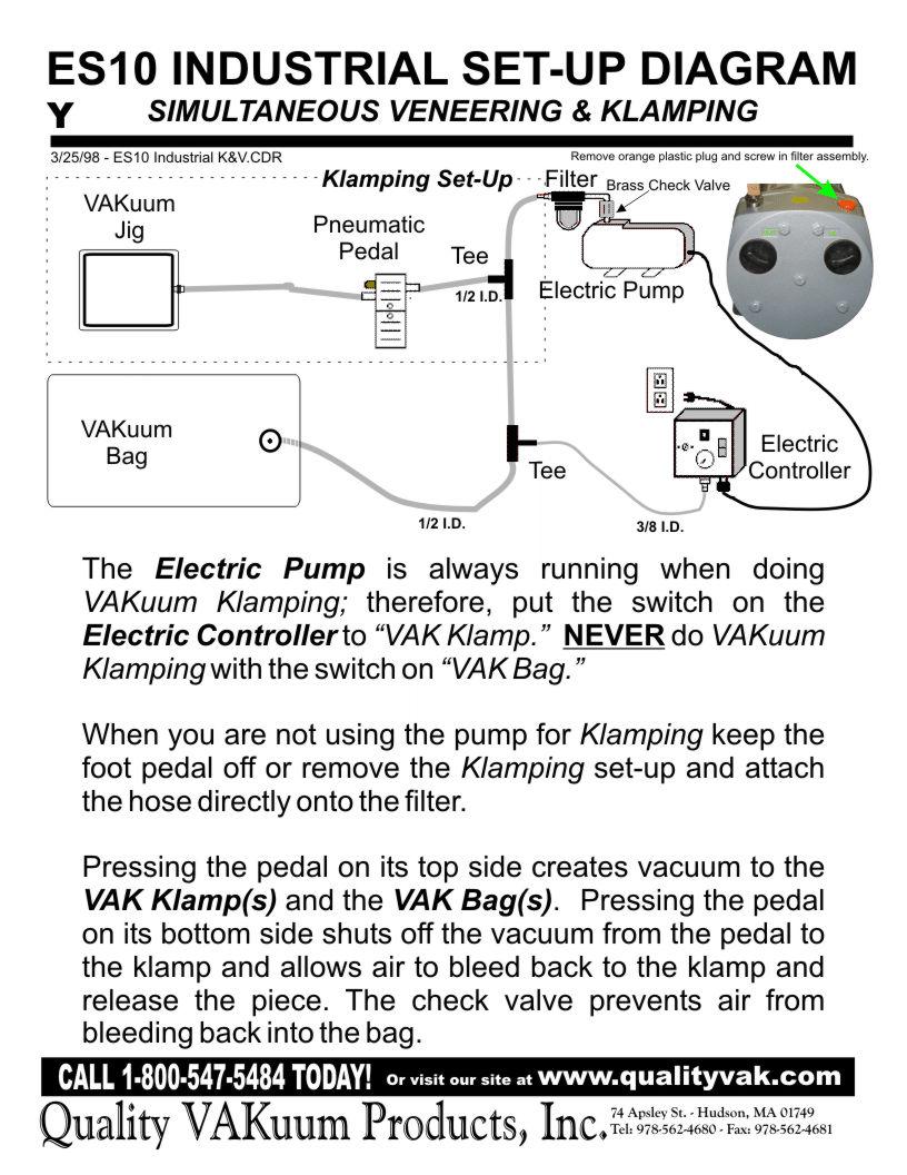 medium resolution of es10 industrial set up diagram simultaneous veneering vacuum hold down