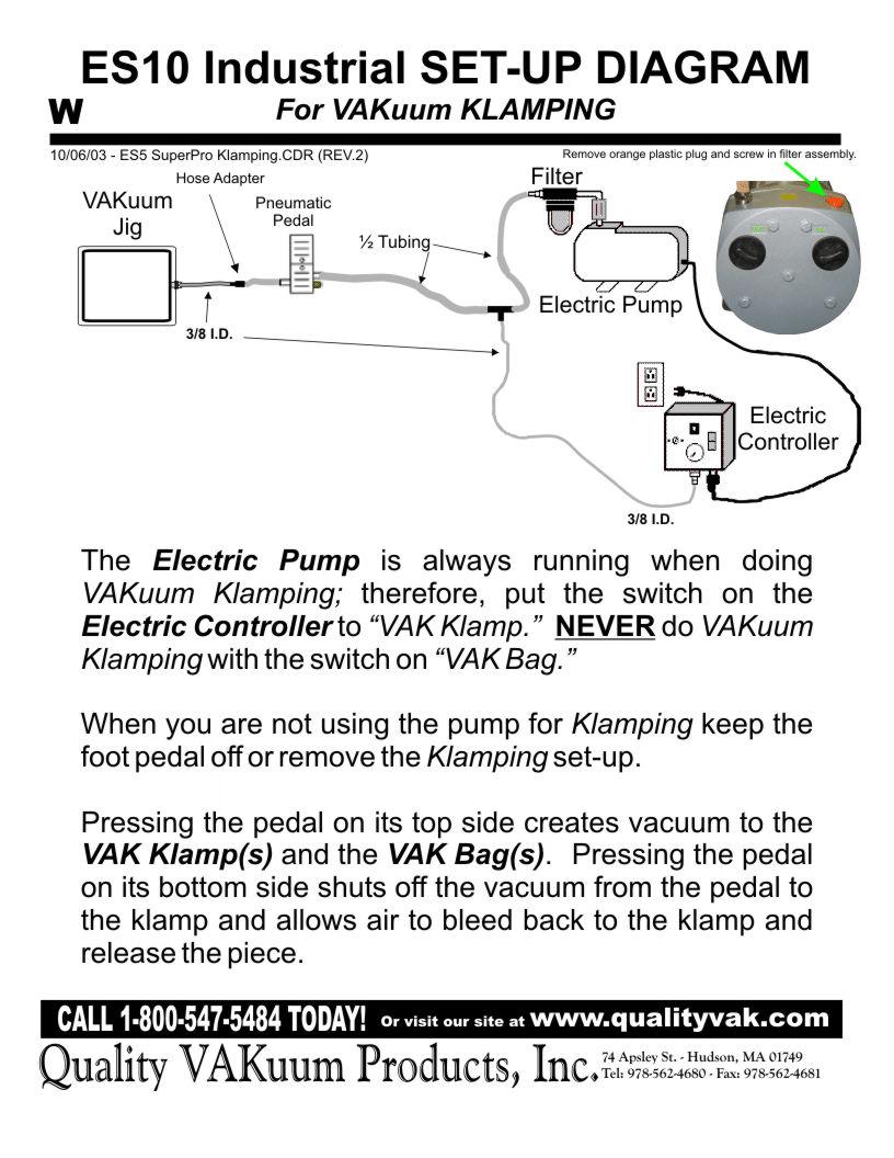 medium resolution of es10 industrial set up diagram for vacuum hold down