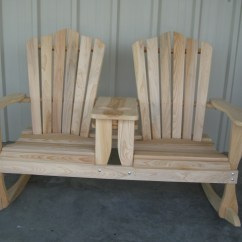 Double Rocking Adirondack Chair Plans Pier 1 Swing Quality Wood Furniture Unfinished Of Leesville Louisiana Cypress 37 Rocker