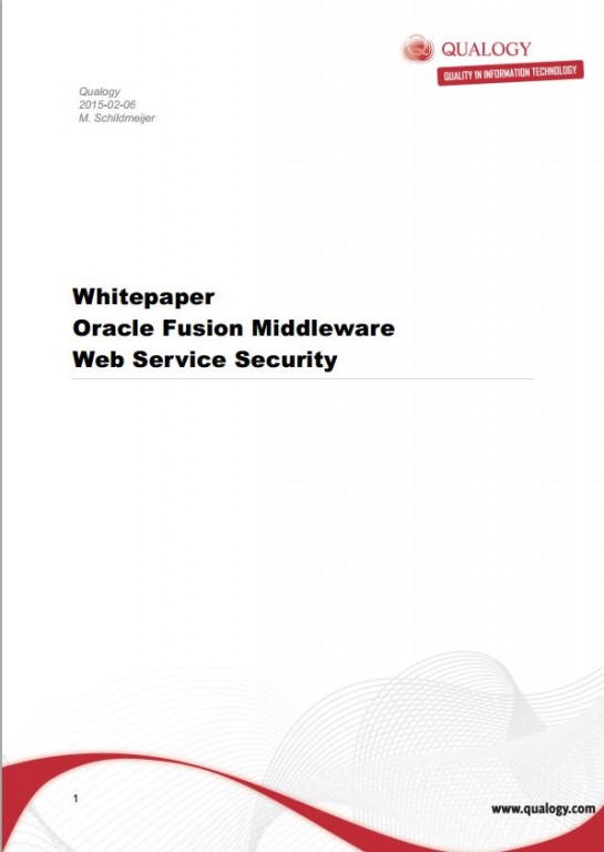 Oracle Fusion Middleware webservice security whitepaper