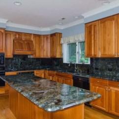 Blue Kitchen Countertops Lighting For Granite Co Luna Pearl Slabs Worktops