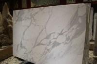 Bianco Statuario Venato slab for bathroom wall