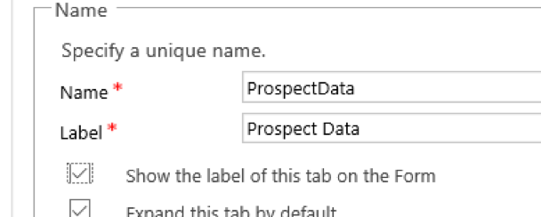 Hide Show Tabs Scripting Code Microsoft Dynamics CRM 3 Prospect Data