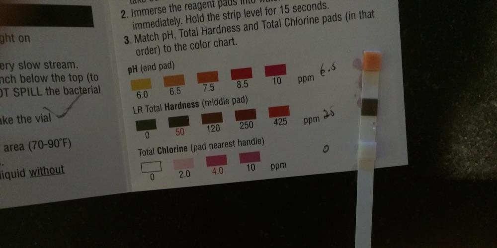 Water pH testing