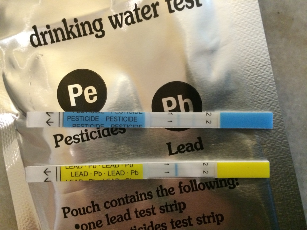 Water quality pesticides test