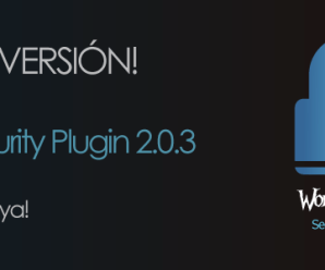 Actualización: WordPressA Security Plugin 2.0.3