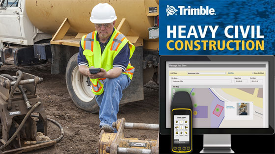 Track and locate the construction equipment in a construction jobsite efficiently with Trimble Tracker RFID System