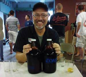 Somewhere along the line, he developed a taste for beer. Eugene Mah photo.