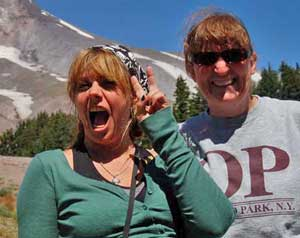 Janet and Lynn at Mount Hood.