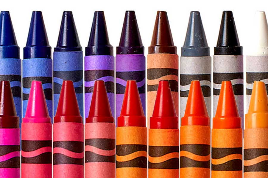 One box of crayons