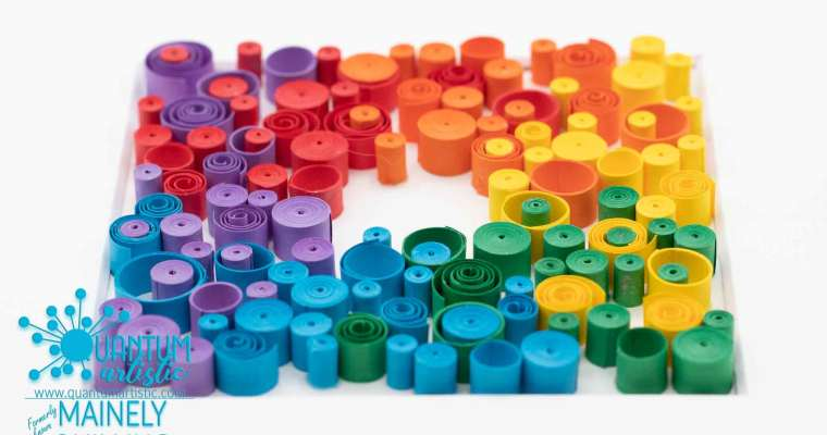Paper Quilled Rainbow Abstract