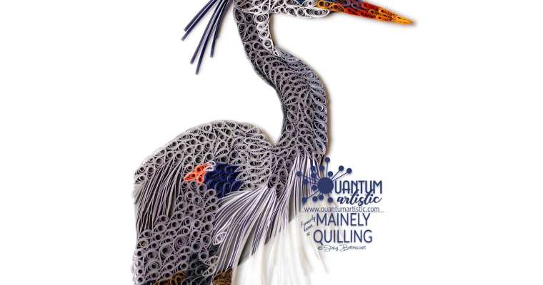 Quilled Great Blue Heron | Archives