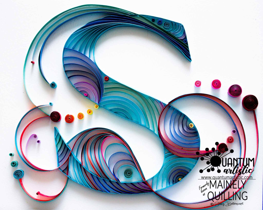 Quilled Fancy Letter S