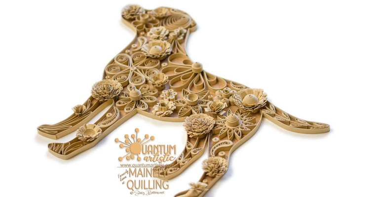 Quilled Floral Yellow Labrador