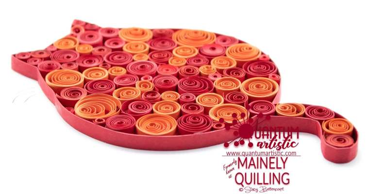 Bubble Coil Quilled Fat Cat | Red & Orange