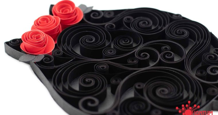 Quilled Gothic Scrollwork Cats