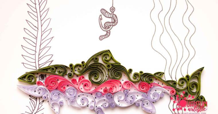 Paper Quilled Rainbow Trout