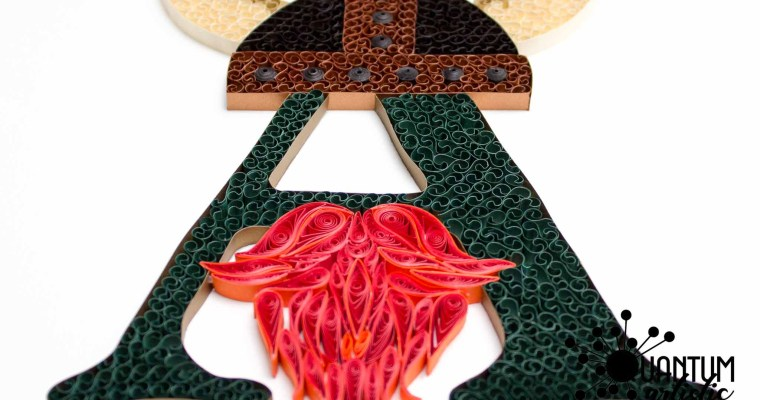 Quilled Viking Theme Monogram | Letter A