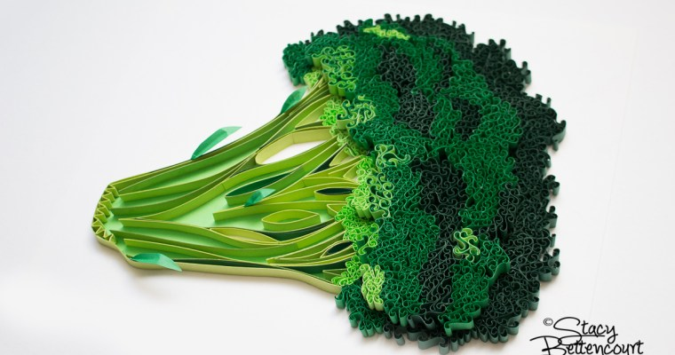 Paper Quilled Broccoli